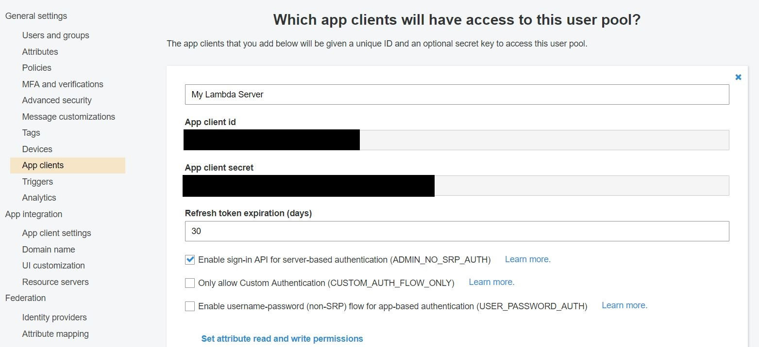 ASP NET Core with AWS Lambda and Cognito – Critical Hit